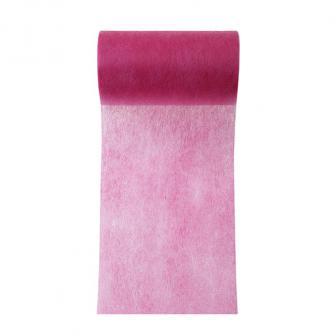 Einfarbiges Deko-Vlies Tischband 10 m-pink