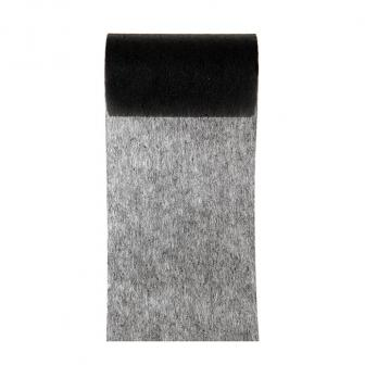 Einfarbiges Deko-Vlies Tischband 10 m-schwarz