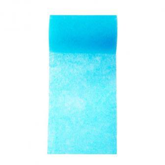 Einfarbiges Deko-Vlies Tischband 10 m-türkis