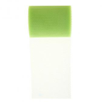 Einfarbiges Dekoband aus Tüll 10 m-grün