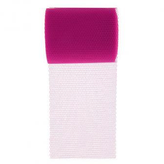 Einfarbiges Dekoband aus Tüll 10 m-pink