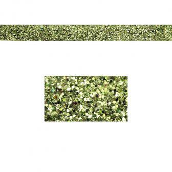 Einfarbiges glitzerndes Deko-Band 2 m-grün