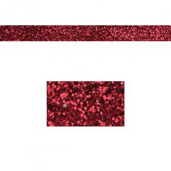 Einfarbiges glitzerndes Deko-Band 2 m-rot