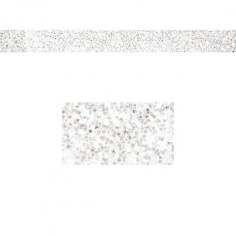 Einfarbiges glitzerndes Deko-Band 2 m-weiß