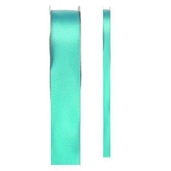 Einfarbiges Satin Deko-Band-mint-grün-15 mm