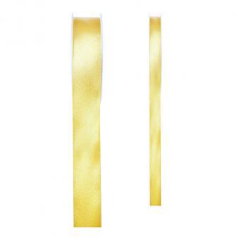 Einfarbiges Satin Deko-Band-gelb-15 mm