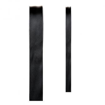 Einfarbiges Satin Deko-Band-schwarz-15 mm