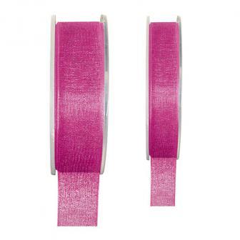 Einfarbiges Organza Deko-Band-pink-40 mm