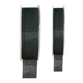 Einfarbiges Organza Deko-Band-schwarz-15 mm