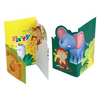 """Einladungskarten """"Auf in die Wildnis"""" mit Umschlag 6er Pack"""