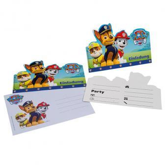 """Einladungskarten """"Paw Patrol - Helfer auf vier Pfoten"""" 6er Pack"""