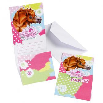 "Einladungskarten ""Charming Horses"" 6er Pack"