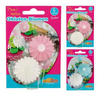 Essbare Oblaten-Blumen 6er Pack