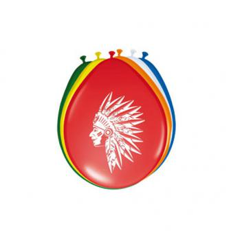 "Farbige Luftballons ""Indianer"" 8er Pack"