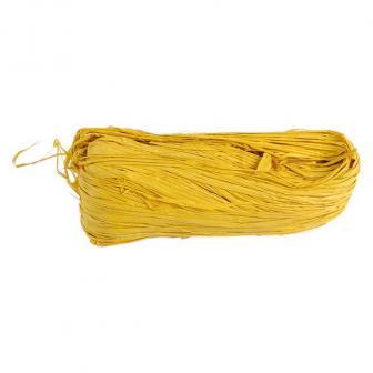 Farbiger Naturbast 50g-gelb