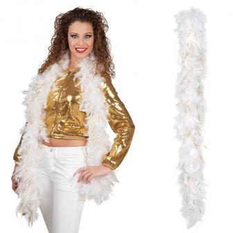 "Federboa ""Glamour"" in weiß-gold-metallic"