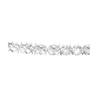 Festliche weiße Papier-Girlande 6 m