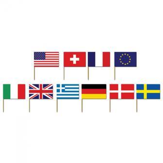 """Picker """"Internationale Flaggen"""" 50er Pack"""