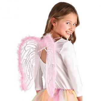 """Flügel """"Rosa Prinzessinnentraum"""" für Kinder 40 cm"""
