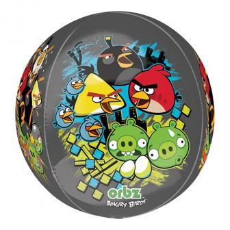"Folien-Ballon ""Angry Birds - schwarz"" 40 cm"