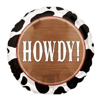 "Folienballon ""Howdy Cowboys"" 43 cm"