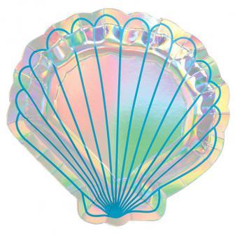 """Form-Pappteller """"Zauberhafte Meerjungfrau"""" 8er Pack"""