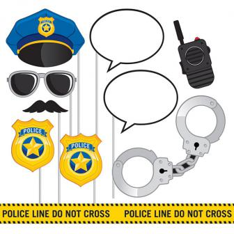 """Foto-Requisiten-Set """"Coole Polizei"""" 10-tlg."""