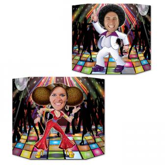"Fotowand ""Disco-Queen und Disco-King"" 94 x 64 cm"