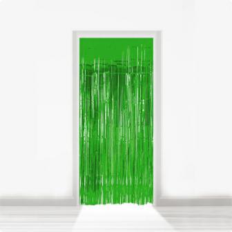 Fransen-Türvorhang aus Folie 2 m-grün