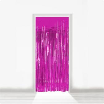 Fransen-Türvorhang aus Folie 2 m-magenta