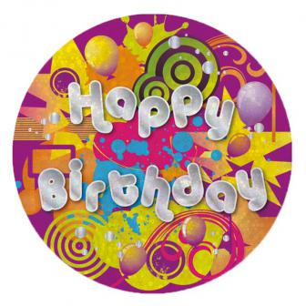"Geburtstags-Button ""Happy Birthday"""