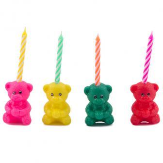 Geburtstagskerzen mit Bärchen 12-tlg.