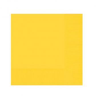 Einfarbige Servietten 20er Pack-gelb
