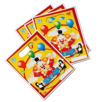 """Geschenk-Tütchen """"Lustiger Clown"""" 8er Pack"""