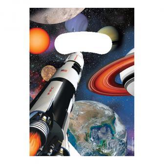 """Geschenk-Tütchen """"Space Shuttle und Planeten"""" 8er Pack"""