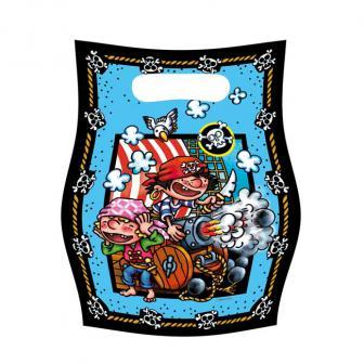 """Geschenk-Tütchen  """"Kleiner Pirat"""" 6er Pack"""