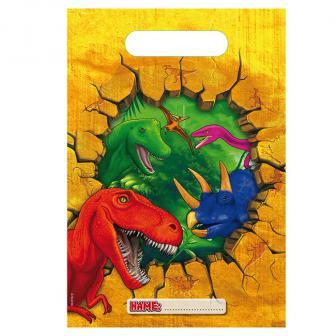 """Geschenk-Tütchen """"Abenteuerliche Dinos"""" 6er Pack"""