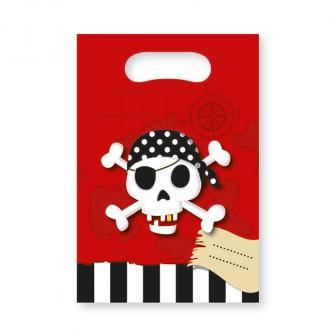 """Geschenk-Tütchen """"Abenteuerliche Piratenparty"""" 6er Pack"""