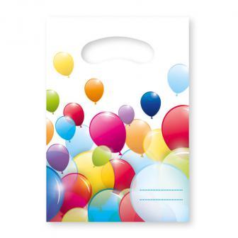 """Geschenk-Tütchen """"Luftballon Paradies"""" 6er Pack"""