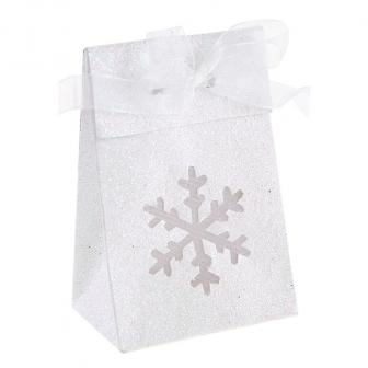 """Geschenkboxen """"Glitzer-Schneeflocke"""" 4er Pack"""