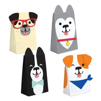 """Geschenktütchen aus Papier """"Hunde Party"""" 8er Pack"""