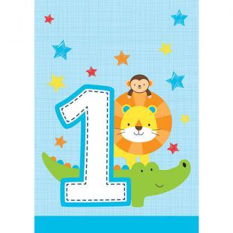 """Geschenktütchen """"Dschungel Boys 1. Geburtstag"""" 8er Pack"""
