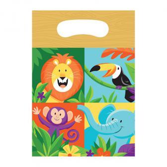 """Geschenktütchen """"Fröhlicher Dschungel"""" 8er Pack"""
