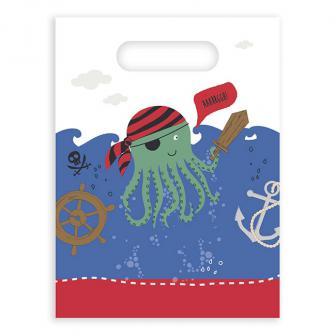 Geschenktütchen Tierische Piraten-Crew 6er Pack