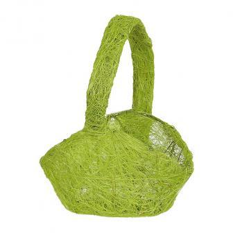 Gewebtes Körbchen mit Henkel-hellgrün