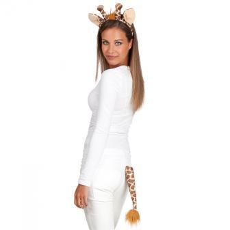 Giraffen-Set Haarreif & Schwänzchen