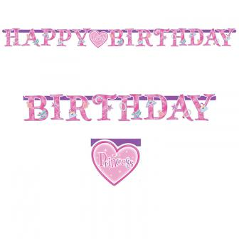 "Girlande Happy Birthday ""Princess"" 220 cm"
