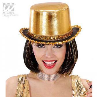 """Glänzender Hut mit Pailletten """"Showstar""""-gold"""