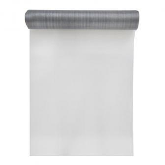 Glänzender Tischläufer 5 m-grau