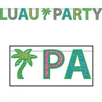 Glitzer Buchstaben-Girlande Luau Party 2,4 m